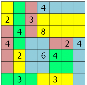A solved Rectangles puzzle